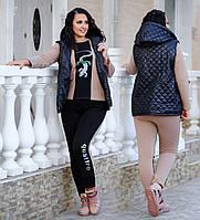 Женский костюм тройка трёхнитка на флисе 48-58 Батал, фото 1