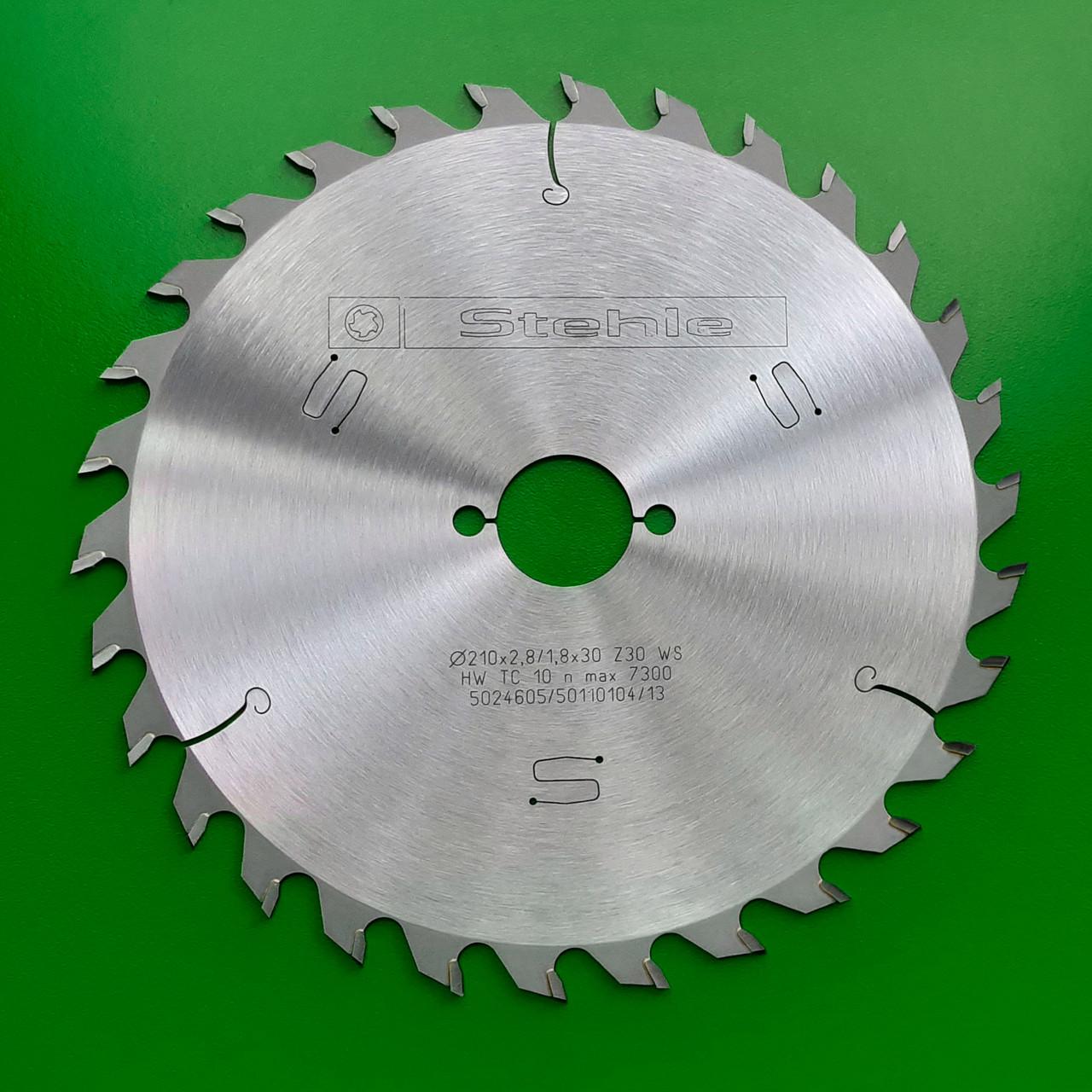 210х2,8х1,8х30 z=30 Універсальний пильний диск по дереву для поздовжнього і поперечного пиляння