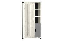 Шкаф комбинированный Техно (Дуб Крафт белый), фото 1