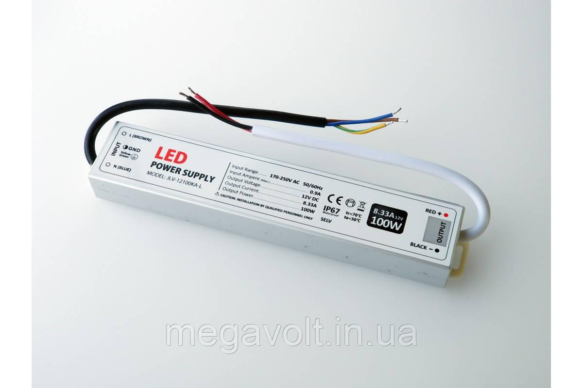 Блок питания 100W 12V герметичный premium Jinbo