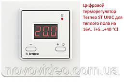 Цифровой терморегулятор  Terneo ST UNIC для теплого пола на 16А.  (+5...+40 °С)