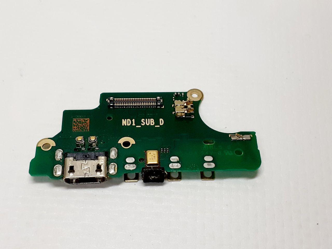 Нижняя плата Nokia 5 TA-1024 / Dual Sim TA-1053 с разъемом зарядки и микрофоном оригинал б.у.