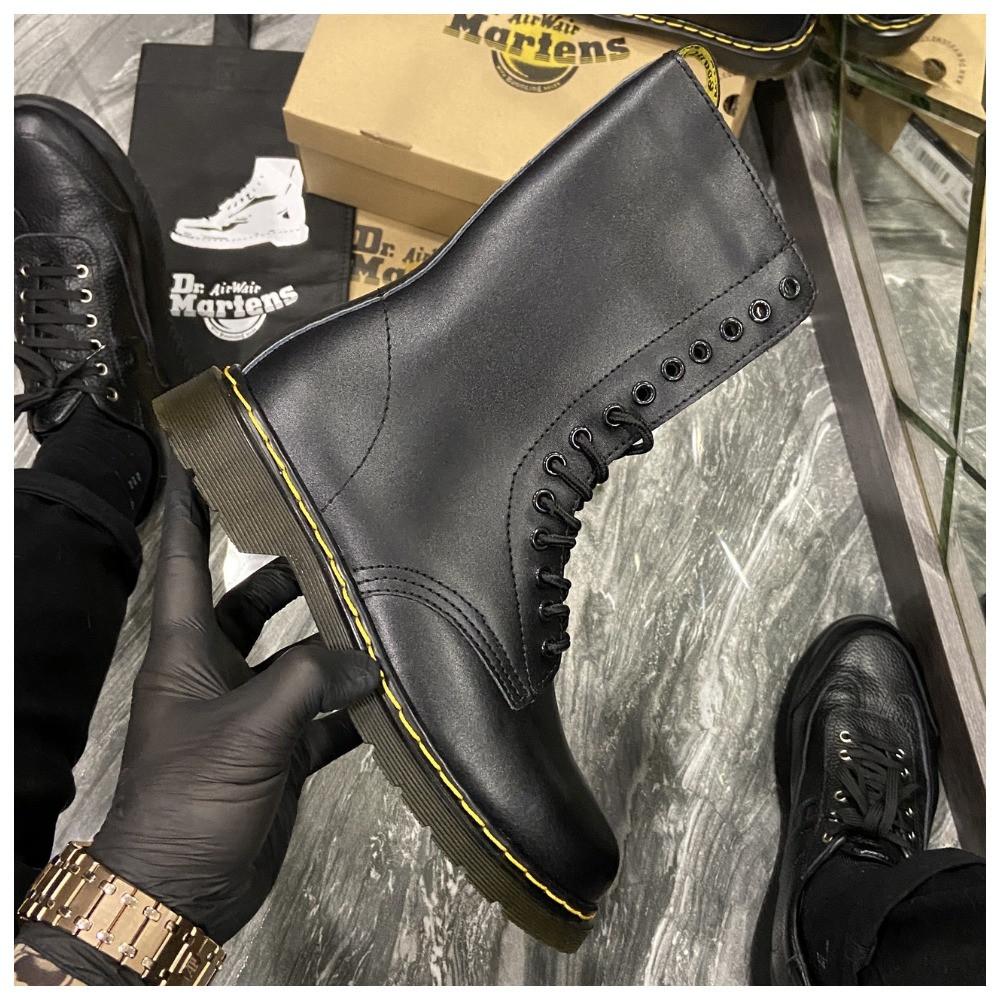 Зимние ботинки Dr. Martens 1914 Fur Black (Мех), доктор мартенс черевики Dr Martens, мартинс ботінки мартінс