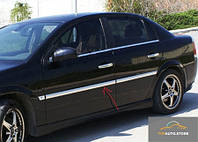 Накладки на молдинги дверей (4 шт, нерж) Opel Vectra C 2002 гг.