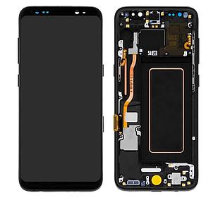 Модуль для Galaxy S8 Samsung G950, черный, дисплей + сенсор