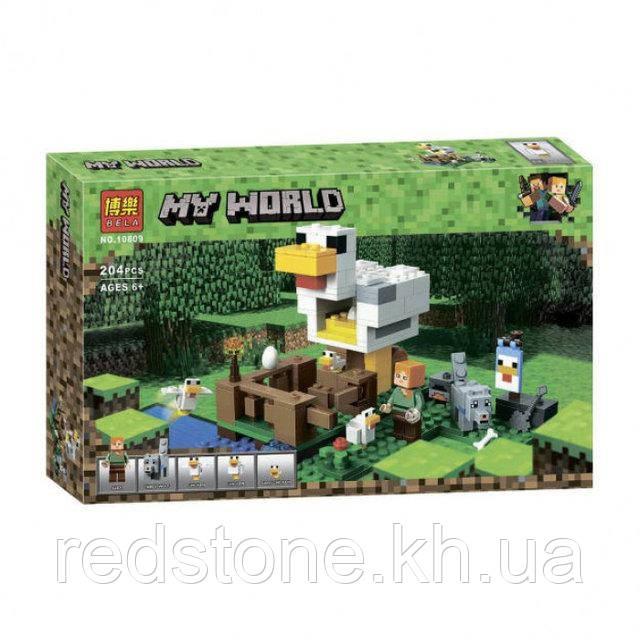 Конструктор Bela Minecraft 10809 ¨Курятник¨, 204 дет