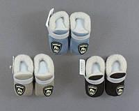 Тапочки тёплые с мехом для мальчиков Aura.via, 6-12, 12-18 мес.  Артикул: BM5391