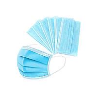 ОТ 1000 шт Маски одноразовые паянные защитные для лица с зажимом для носа
