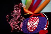 """3D Ночник-светильник """"Человек-паук"""" с USB шнуром для детей и взрослых"""