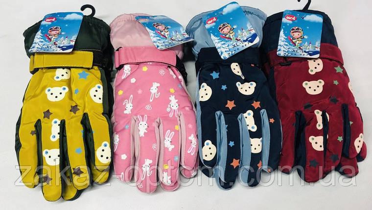 Перчатки детские оптом плащевка Китай-63069, фото 2