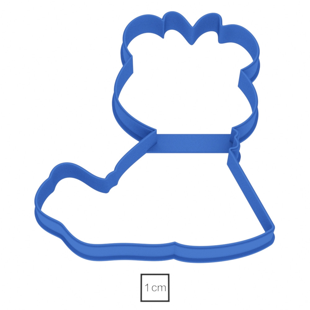 Висіічка для пряників у вигляді медведика, який сидить