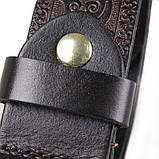 Кожаный ремень мужской шоколад B001Q, фото 7