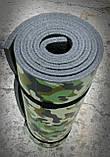 Каремат туристический, серый+хаки, т. 10 мм, размер 50х180 см, производитель Украина, TERMOIZOL®, фото 4