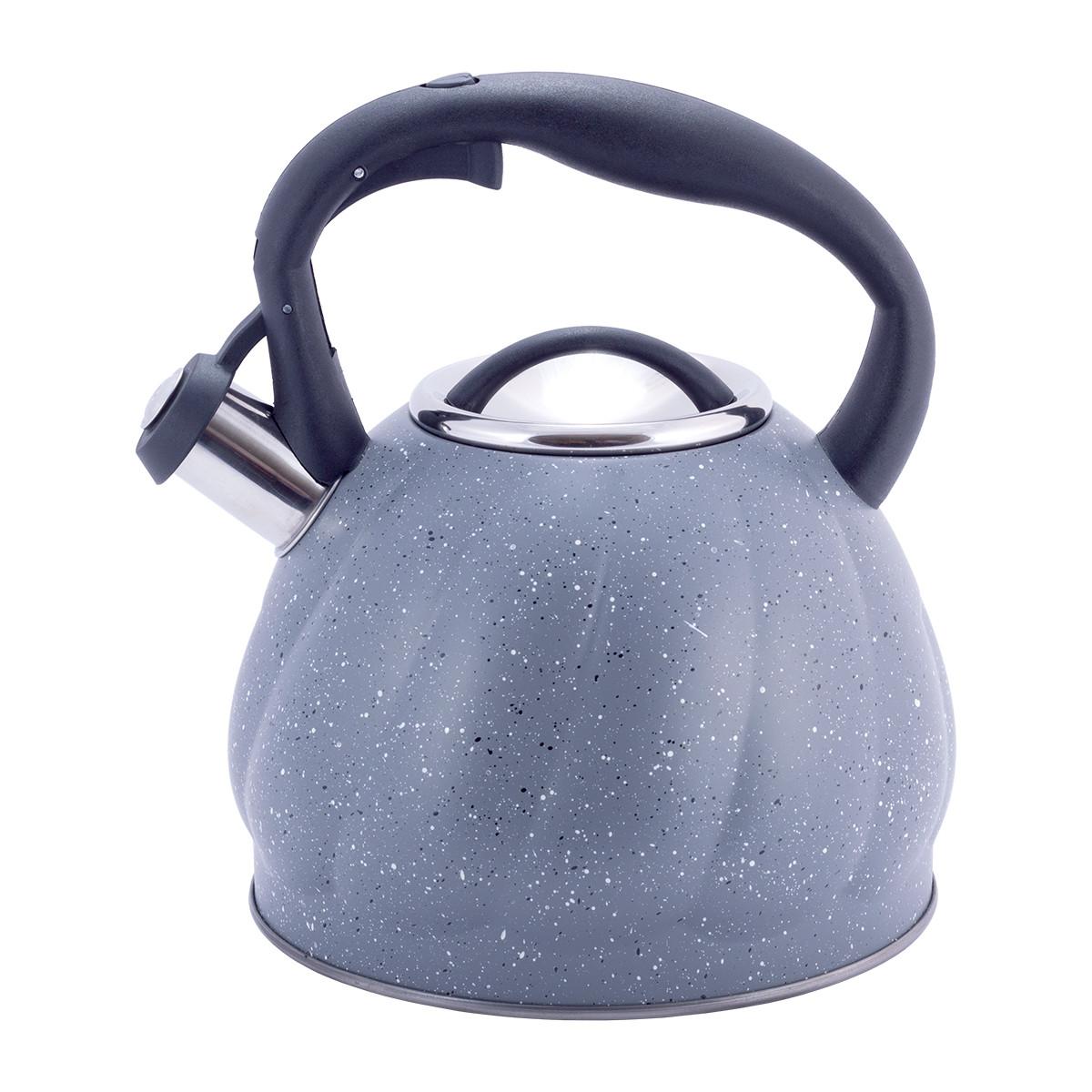 Чайник Kamille 3 л из нержавеющей стали со свистком, бакелитовая ручка, для всех видов плит