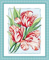 Набор для вышивки крестом Русский фаворит ЦВ-019 «Пёстрые тюльпаны»
