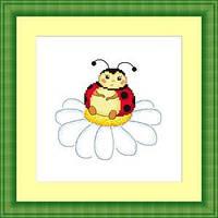 Набор для вышивки крестом Русский фаворит ДД-011 «Букашечка на ромашечке»
