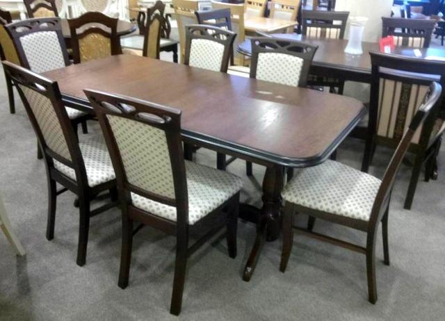 Стол обеденный раскладной  на двух ножках  Гранд  Fusion Furniture, цвет  орех
