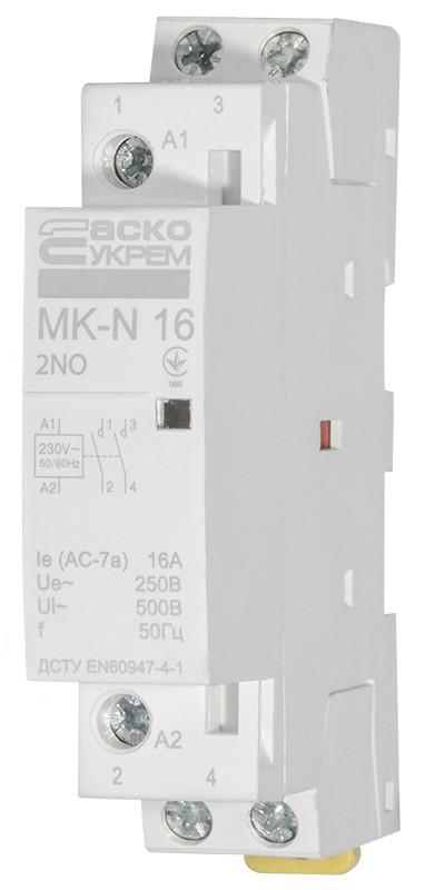 Модульний контактор MK-N 2P 16A 2NO 220V