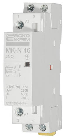 Модульний контактор MK-N 2P 16A 2NO 220V, фото 2