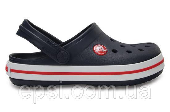 Сабо (кроксы) Crocs Crocband Kids Navy ( Темно-синий ) C11 28-29