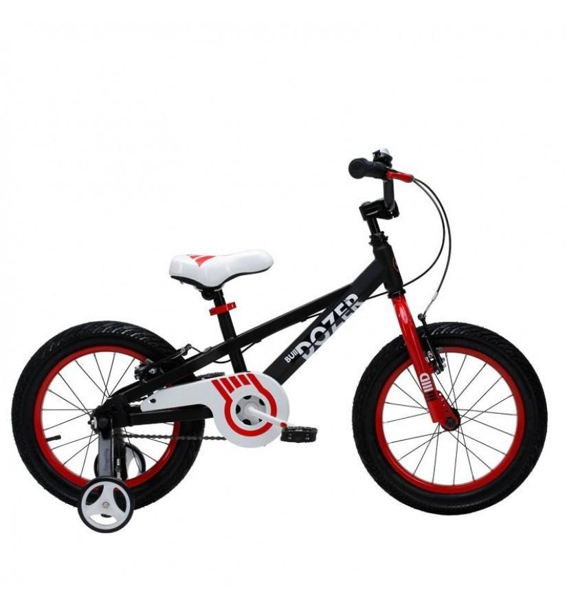 "Велосипед 16"" RoyalBaby BULL DOZER OFFICIAL UA чорний RB16-24"