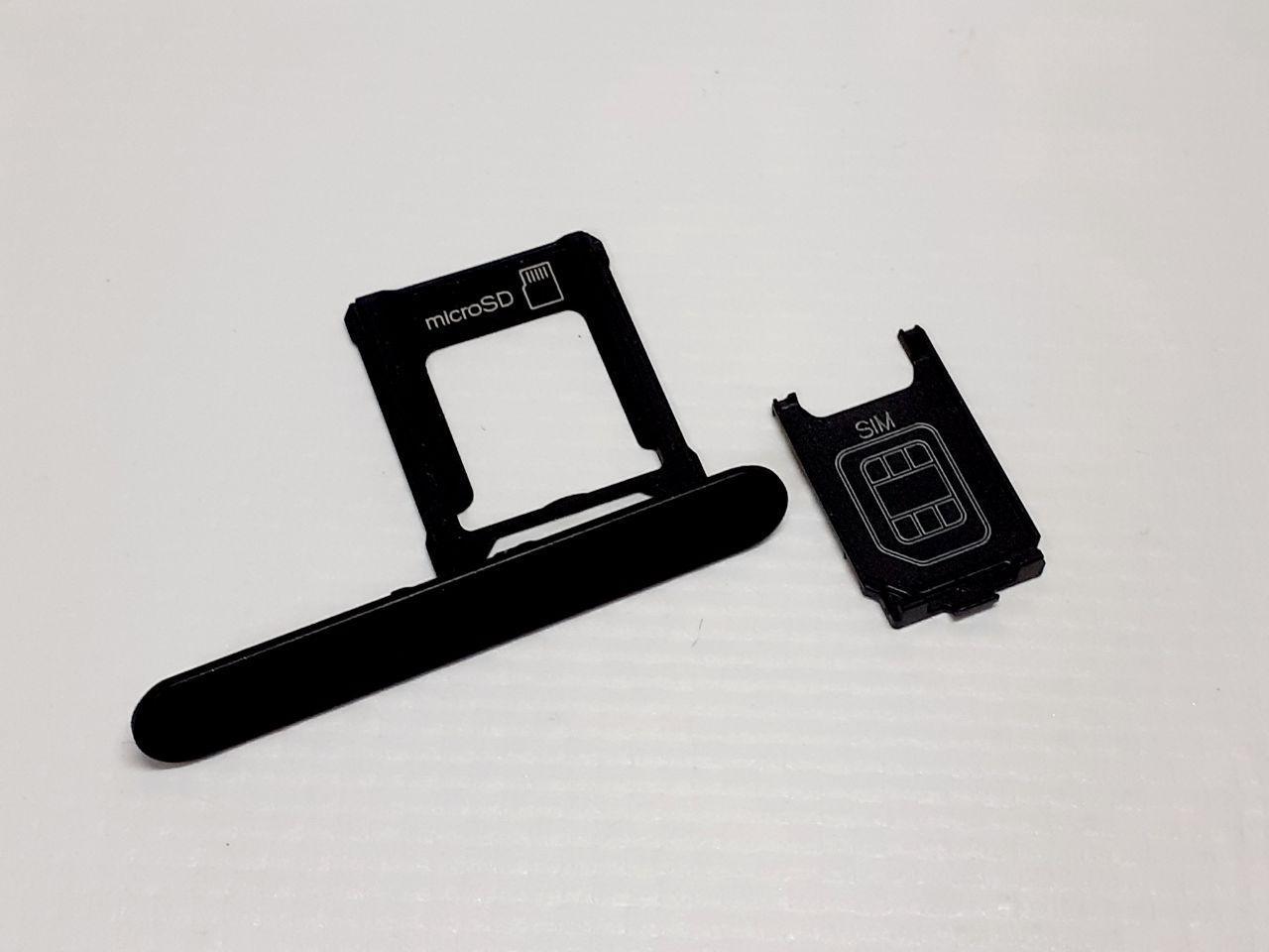 Лоток сим карты черный Sony Xperia XZ1 Compact G8441 оригинал с разборки