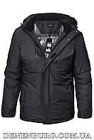 Куртка зимняя мужская PAFAO 20-6901 тёмно-серая, фото 1