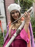 Берет женский вязаный  стильный белый, фото 1