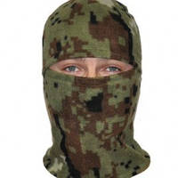 Шапка маска балаклава флисовая, подшлемник, цвет Пиксель