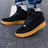 Кроссовки зимние Nike Air Force high black (Реплика ААА), фото 2