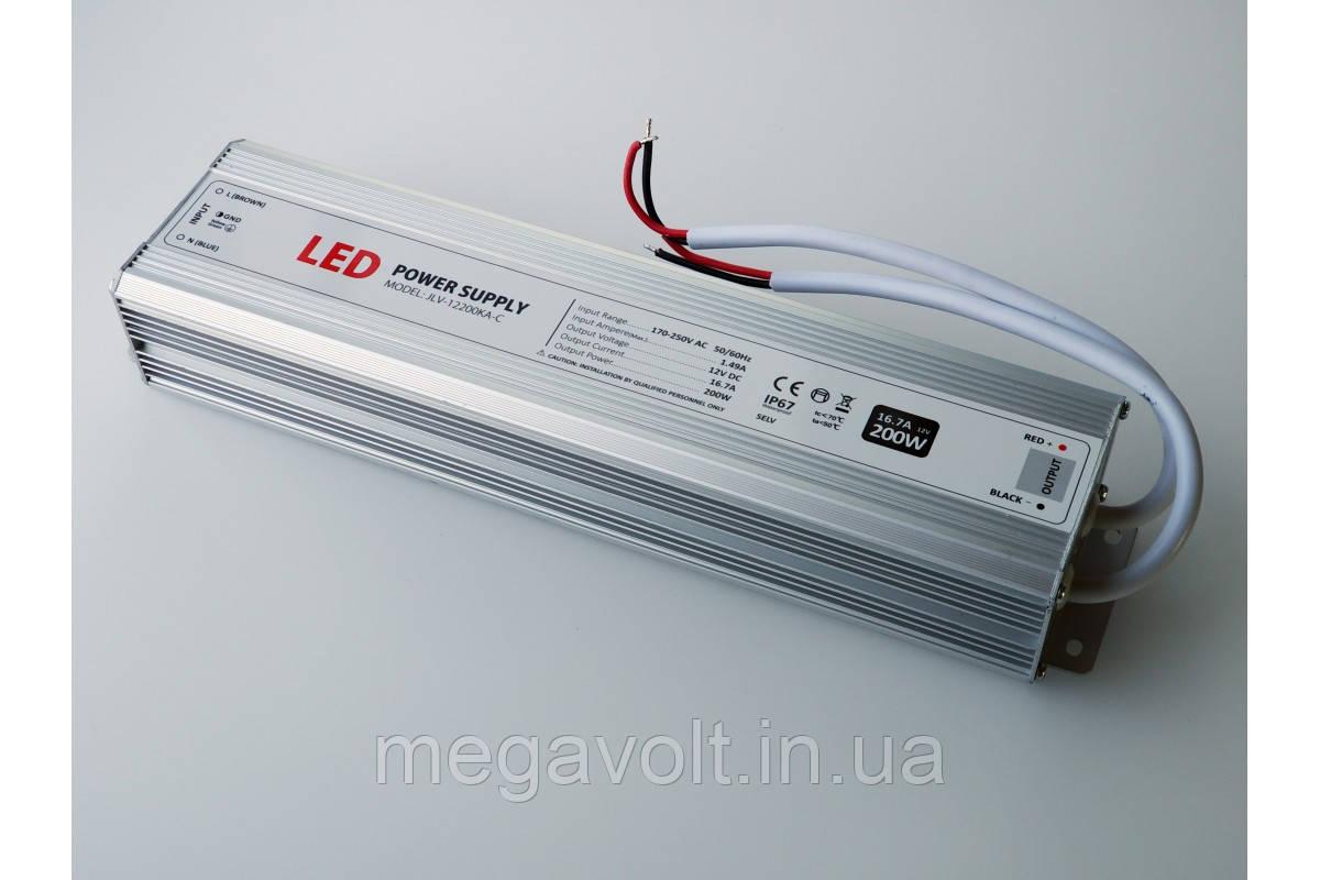 Блок питания 200W 12V герметичный premium Jinbo