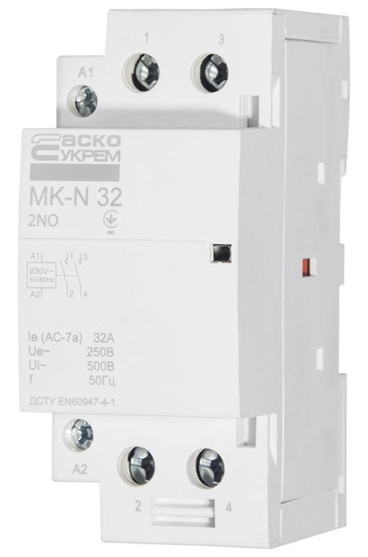 Модульний контактор MK-N 2P 32A 2NO 220V