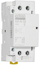 Модульний контактор MK-N 2P 32A 2NO 220V, фото 3