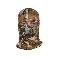 Шапка маска балаклава флисовая, подшлемник, цвет Лес