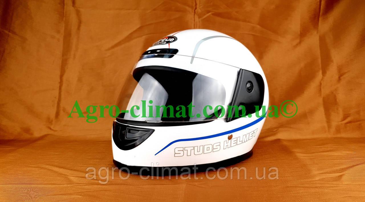 Шлем для мотоцикла белый Virtue 01 взрослый размер L 58-59 см