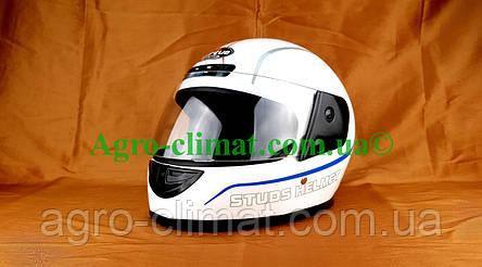 Шлем для мотоцикла белый Virtue 01 взрослый размер L 58-59 см, фото 2