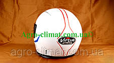 Шлем для мотоцикла белый Virtue 01 взрослый размер L 58-59 см, фото 3