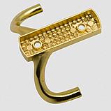 Крючок маленький 3D эффект в цвете золото., фото 2