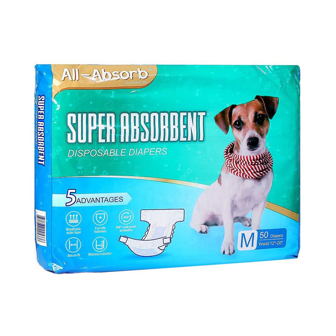 Підгузник для собак All Absorb M A30 талія 30,5-51см (1шт)