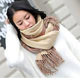 Стильний теплий шарф, накидка, палантин, платок, фото 5