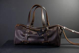 """Сумка Travel """"Модель №81"""" Вінтажна шкіра колір Шоколад, фото 3"""