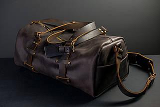 """Сумка Travel """"Модель №81"""" Вінтажна шкіра колір Шоколад, фото 2"""
