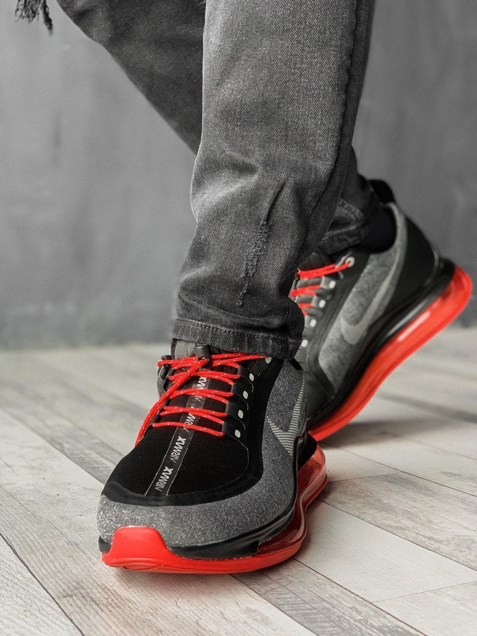 Кроссовки мужские Nike Air Max 720 NEW Grey/Red