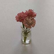 Кукольные цветы в прозрачных баночках, фото 3