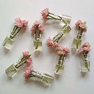 Кукольные цветы в прозрачных баночках, фото 4
