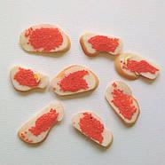 """Кукольная еда """"Бутерброд с красной икрой"""", фото 2"""