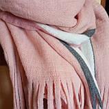 Объемный стильний теплий шарф, накидка, палантин, платок, фото 6