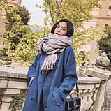 Объемный стильний теплий шарф, накидка, палантин, платок, фото 2