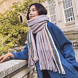 Объемный стильний теплий шарф, накидка, палантин, платок, фото 4