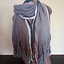 Объемный стильний теплий шарф, накидка, палантин, платок, фото 7